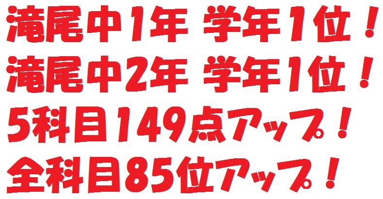 Tosemi 滝尾教室 期末テスト結果SPecial!!